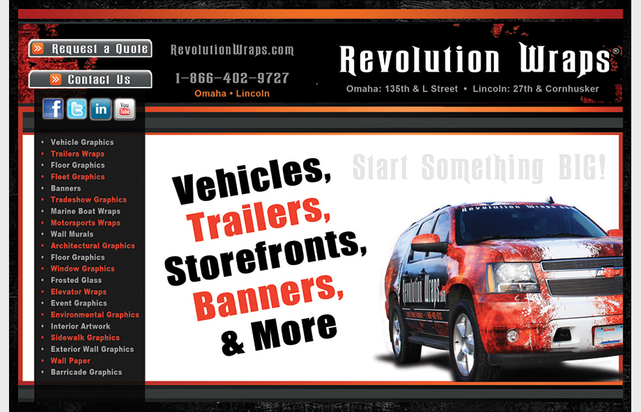 Revolution Wraps – Marketing